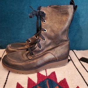 Timberland bronze 6 eye metallic combat boots
